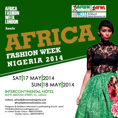 African Fashion Week Nigeria Set For May 17 18 Ytainment Arena