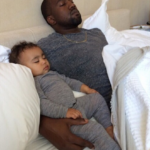 Waoow…Kanye With Baby North West As She Turns 1