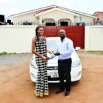 New Queen: Nadia Ntanu handed official Miss Ghana car