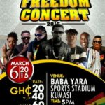 Kumasi to go 'crazy' on 6th March with FREEDOM CONCERT