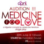 'MEDICINE FOR LOVE' auditions this Saturday
