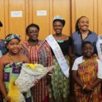 Photos: REBECCA ASAMOAH returns home after winning Miss Africa crown… Welcomed at the airport by the reigning Queen, 2nd Runner-up and the media… Deputy Minister of Tourism, Culture & Creative Arts praises her