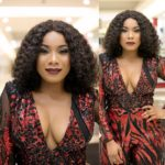 ZYNNELL ZUH stuns as 'the CEO' in Sima Brew's jumpsuit to support Kunle Afolayan's movie