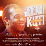 Hard Rock Café, El Carnaval, Ma'on Communications and Naira Box brings you Femi Kuti Live at Felabration