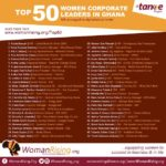 WomanRisingmarks 1 Year Anniversary with the Release of Top 50 Women Corporate Leaders in Ghana..… Lucy Quist, Abiola Bawuah, Petra Aba Asamoa make the list