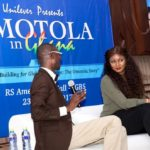 "SEE how Omotola shutdown the Business School, University of Ghana with her ""Brand Building for Global Relevance"" lecture"