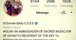 Sonnie Badu Instagram
