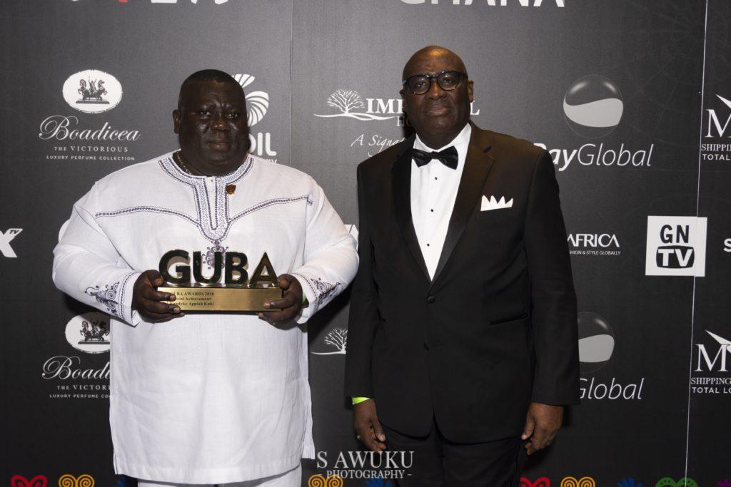 Vandyke Kubi (with award) HE Papa Owusu-Ankomah