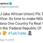 'Prince of Tweets', Zamani goes 'ice' this day…suggests that NIGERIA & GHANA should be made ONE country