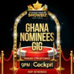 GHANA-NAIJA SHOWBIZ AWARDS: Cockpit Bar & Lounge inside Achimota Mall to play host venue for the Nominees' Gig on Thursday, September 27th