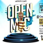 ARTISTE CAFÉ presents the maiden edition of OPEN MIC…on the 19th of March, 2019, at Cockpit Bar & Lounge