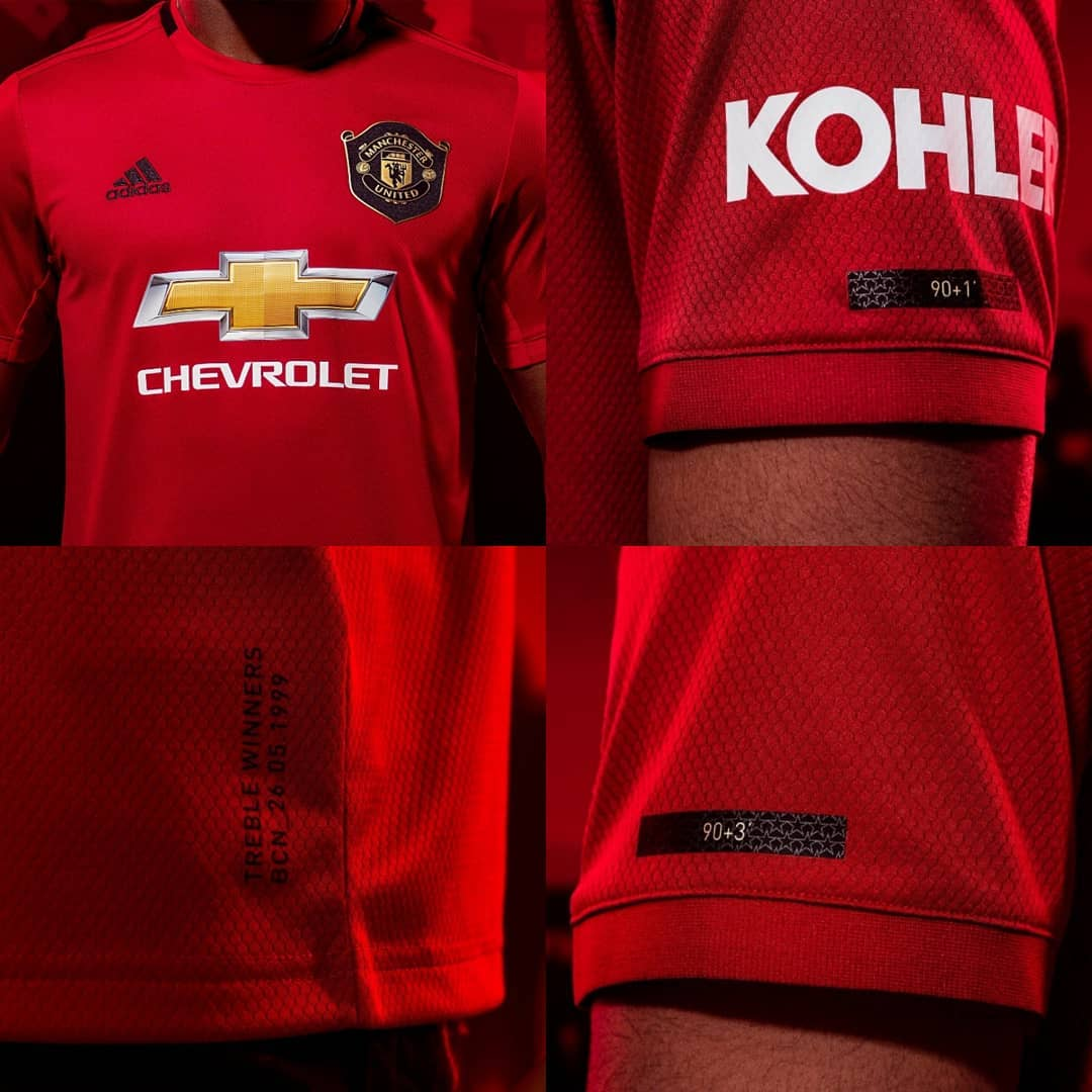 3e0adcdab MANCHESTER UNITED have unveiled their new home kit for the 2019-20 ...