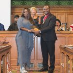 There's no HYDEing place for PEACE as she receives the Social Impact Award at the UK House of Commons, House of Parliament