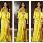 Isn't she lovely? Rihanna wows in yellow at pre-Grammy gala