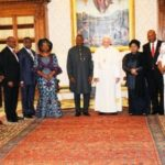Photos: President Jonathan and the First Lady meet the Pope