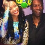 Rihanna Plays With Football Legend Pele In Brazil