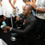 See how Chris Attoh proposed to his woman Damilola