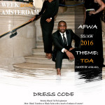 Early to bed: AFRICA FASHION WEEK AMSTERDAM releases poster for 2016