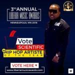 SCIENTIFIC nominated for 2016 Liberia Music Awards
