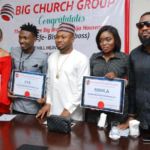 Big Church Group Gifts Big Brother Naija Winner, Efe, and Bisola & Tboss with Plots of Land