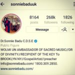 Dr. Sonnie Badu gets verified on Instagram