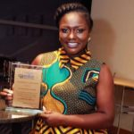 """""""Here's to all those working to make the world to recognize the beauty of our motherland"""" – DENTAA AMOATENG MBE says as receives the COMMUNITY DEVELOPMENT AWARD"""