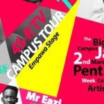 Mr Eazi to headline the 2019 4S-R CAMPUS TOUR 3 Pent Hall Week Celebration