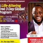 Ghana's KWAME A.A OPOKU set to host over 60+ countries & 6 Global Speakers under His University of Personal Development 3-Day Virtual Summit