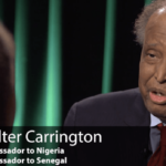 WALTER CARRINGTON -Former US Ambassador- is dead