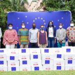 In accordance to the unchanging message of 'Wear Your Mask in Public'…FASHION CONNECT AFRICA presented over 10,000 Face Masks to the European Union Delegation to Ghana – photos speak!